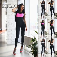2017 Brand women body-building exercise suit Sleeveless Patchwork Back cross strap One piece Elastic tight running set //Price: $21.47 & FREE Shipping //     #jeggings #leggings
