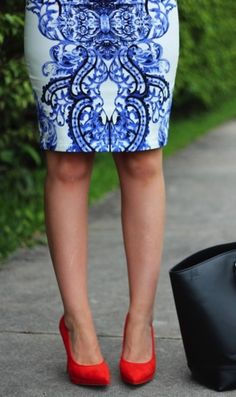 blue and white fashion styles and prints