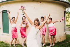 Bridesmaids pose - Waupaca, WI