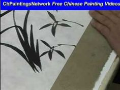 Orchid Chinese Painting for Beginners on Xuan Paper 2/4 - YouTube