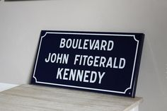 French Enamel Vintage Street Sign John Fitzgerald by maintenant, $165.00