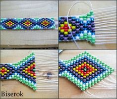 This Pin was discovered by luc Loom Bracelet Patterns, Bead Loom Bracelets, Bead Loom Patterns, Beaded Jewelry Patterns, Beading Patterns, Bead Jewellery, Seed Bead Jewelry, Beading Projects, Beading Tutorials