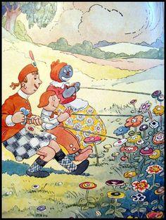 Деревянный Вилли - Джонни Gruelle Тряпичная Энни и Энди Illustrator с openslate на Руби-Лейн