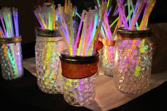 Glow Bracelet Jars for Party Handouts! http://glowproducts.com/glownecklaces/glowandledbracelets/