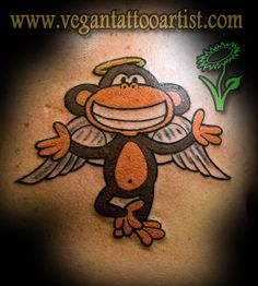 monkey tattoos | color angel monkey tattoo | Flickr - Photo Sharing!