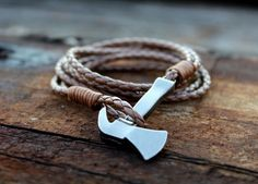 Awesome Axe Bracelet available on www.universal-time.com   For a rustical style Must have in your accessoiry collection