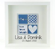 Weiteres - personalisiertes Hochzeitsgeschenk - Hochzeitsbild - ein Designerstück von schoenes-von-Herzen bei DaWanda
