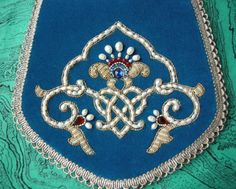 Russian embroidery & bead work.