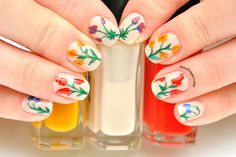 Spring flowers nail design – inspired by Oscar de la Renta's 2015 spring-summer collection Latest Nail Designs, Spring Flowers, Nail Polish, Nails, Saga, Beauty, Oscar De La Renta, Finger Nails, Ongles