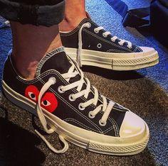 Converse Outfits, Cdg Converse, Converse Style, Cute Shoes, Me Too Shoes, Baskets, Shoe Company, Comme Des Garcons, Dream Shoes