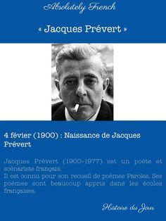 4 février - Naissance de Jacques Prévert #4février #histoiredujour #histoire #france #french #jacquesprévert