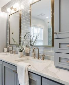 Design, determination, and DIY opinions for remodeling your master bathroom on a budget. Awesome DIY home projects, motivation for your house, and cheap remodeling ideas when it comes to master bathroom. Guest Bathrooms, Bathroom Renos, Bathroom Small, Basement Bathroom, Bathroom Renovations, Bathroom Makeovers, White Bathroom, Back Splash Bathroom, Light Grey Bathrooms