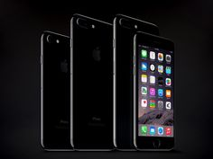 iPhone 7 & 7 Plus Jet Black Mockups. iPhone 7 and 7 plus new mobile phones designed for high-resolution presentation file all layers are arranged in a full set of front and back of the image rear view changed. 4000×3500 High Resolution & Full Layered.