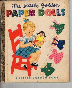 The Little Golden Paper Dolls 1951 Vintage Golden Book by Jantiki