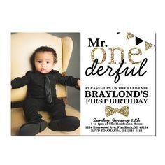 1st Birthday Invitations Mr Onederful Invitation Mr