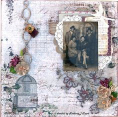DT project by Kimberly Heard using the January 2015 kit, Bejeweled. swirlydoos.com ~ Scrapbook Pages 1.