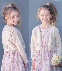 Bolero in Wendy Fleur DK – Deramores Quick Crochet, Love Crochet, Knit Crochet, Crochet Hats, Crochet Bolero, Lace Bolero, Bolero Pattern, Knitting Books, Kids Knitting