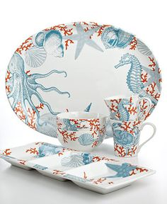 222 Fifth Coastal Life Serveware Collection - Serveware - Dining & Entertaining - Macy's