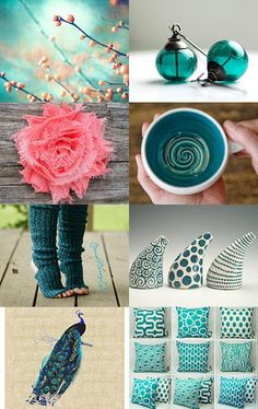 simply coral & teal --Pinned with TreasuryPin.com