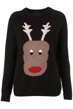 Reindeer knitwear topshop