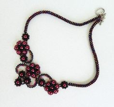 PDF for beadwoven necklace beading pattern - beadweaving beading tutorial beaded seed bead jewelry - FRENCH KISS
