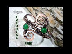 Jade Bracelet, Copper Bracelet, Copper Jewelry, Wire Jewelry, Jewellery, Wire Wrapped Bracelet, Wire Wrapped Pendant, Wire Bracelets, Wire Tutorials