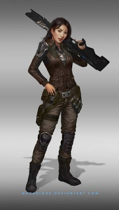 rebellion female soldier : character design by macarious on @DeviantArt