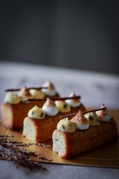 Earl Grey Honey Cake with Passion Fruit Curd and Toasted Italian Meringue Beer Cheese Fondue, Passion Fruit Curd, Charcuterie And Cheese Board, Best Party Food, Honey Cake, Sangria Recipes, Pastry Recipes, Cupcake Recipes, Sugar And Spice