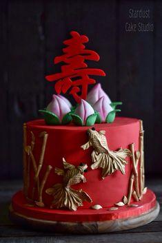 80 Birthday Cake, 85th Birthday, Chinese Celebrations, Chinese Birthday, Happy Birthday Wishes For A Friend, Chinese Cake, Asian Party, Cake Decorating Piping, Fondant Baby