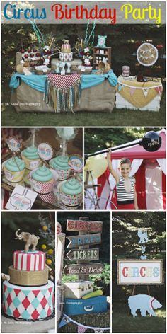 Amazing circus birthday party! The party decorations are incredible, as is the circus birthday cake! See more party ideas at CatchMyParty.com.
