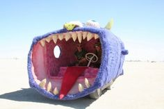 Crazy shark car. Yes #sharkweek has come and gone but we can still enjoy this! #sharks