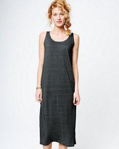 Eileen Fisher Linen Jersey Striped Dress