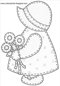 free sunbonnet sue patterns to print - Yahoo Canada Image Search Results Applique Templates, Applique Patterns, Applique Quilts, Applique Designs, Embroidery Applique, Cross Stitch Embroidery, Quilt Patterns, Paper Embroidery, Sewing Patterns