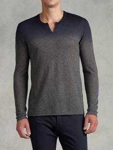 Dip Dye Split Crewneck Sweater