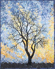 Winter Sky, Quilt by Lenore Crawford