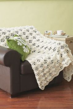 Textured Stitch Classic Afghan  Crochet this beautiful afghan using Impeccable™ Big yarn which is a soft, easy care yarn is 100% acrylic and is available in a wonderful range of colors.