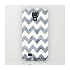 Samsung Galaxy S4, Phone Case, Raining Chevron, Alloy Chevron, Grey Chevron, Watercolor painting by Suisai Genki, Grey, Black, White, Alloy on Etsy, $47.00
