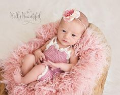 Adorable Vintage Romper Crochet Pattern!  Wouldn't this make an adorable summer outfit!?  All sizes Newborn through 3 Years included.