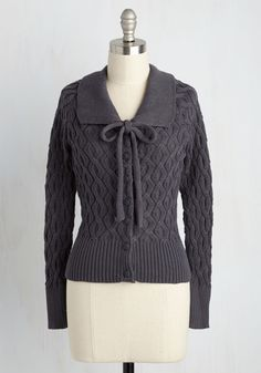 Cable to Make It Cardigan, @ModCloth