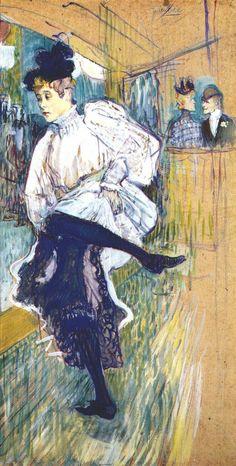 Lautrec jane avril dancing 1892 - Henri de Toulouse-Lautrec - Wikipedia, la enciclopedia libre