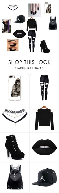 """gang g."" by queen-dix ❤ liked on Polyvore featuring Casetify, WithChic, Wet Seal, Lime Crime, Chicnova Fashion and NIKE"
