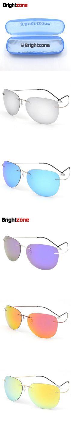 Brand Name Unisex 12g Multi-Mirror Polarized Titanium Sunglasses Solbriller Sonnenbrille Occhiali Da Sole Gafas Oculos De Sol