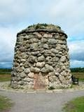 A cairn at Culloden.    'The Battle of Culloden  was fought on this moor  16th April 1746.    The graves of the  gallant Highlanders  who fought for  Scotland & Prince Charlie,  are marked by the names of their clans.'