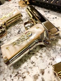 25 Custom Glocks That Are Modded To The Max - Allgunslovers Ninja Weapons, Weapons Guns, Guns And Ammo, Knife Aesthetic, Pretty Knives, Thug Girl, Armas Ninja, Custom Guns, Military Guns