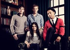 Logan Lerman ,Alexandra Daddario, Brandon T. Jackson, and Jake Abel