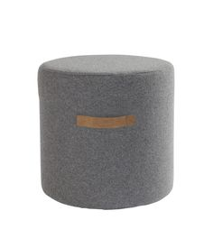Sara sittpuff i ull från Confident Grey And Beige, Moving House, Living Room Inspiration, Fabric Covered, Modern Design, Ottoman, Pure Products, Chair, Interior