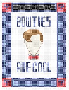 I LOVE Doctor Who!  I love cross stitch!  Add them together and you get DOCTOR WHO CROSS STITCH!!!!  WOOOO!!! :)  Bowties are Cool!. Dr. Who cross stitch chart at Hancock's House of Happy