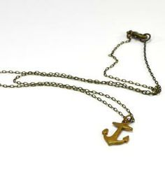 Vintage Anchor Pendant Necklace