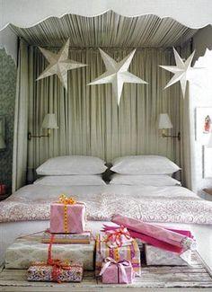 xmas, pink, white, bedroom