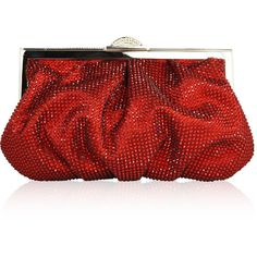 Judith Leiber Couture Natalie Beaded Clutch Bag ($2,995) ❤ liked on Polyvore featuring bags, handbags, clutches, handbags clutches, red, judith leiber, red purse, beaded handbags, beaded hand bags and beaded purse